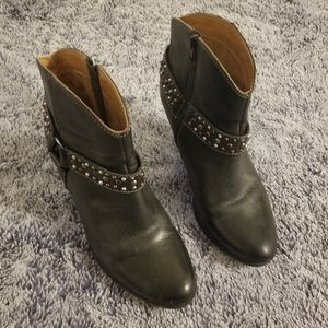 Sofft Brown Leather Booties with w/ ankle Strap